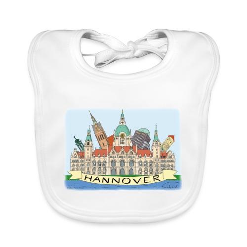 Hannover Rathaus Sehenswürdigkeiten Comic Style - Baby Bio-Lätzchen