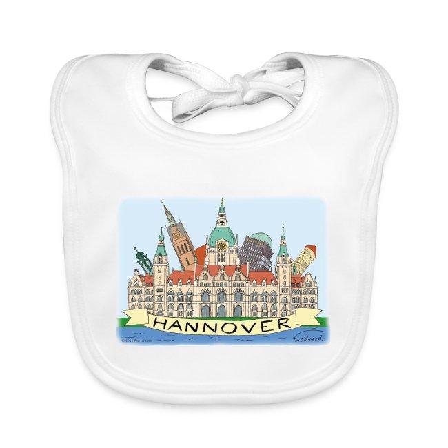 Hannover Rathaus Sehenswürdigkeiten Comic Style