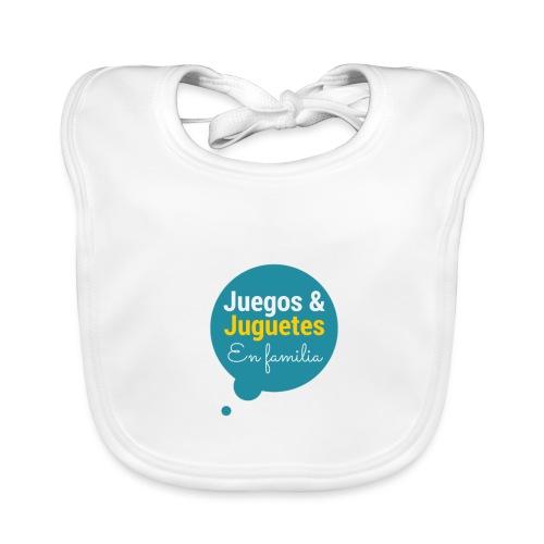 Logo Juegos y Juguetes en Familia - Babero de algodón orgánico para bebés