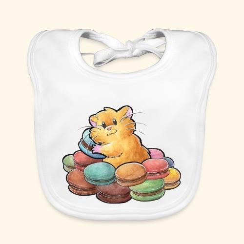 Macaron-Hamster - Baby Bio-Lätzchen