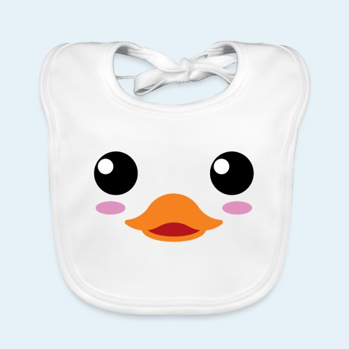 Pato bebé (Cachorros) - Babero de algodón orgánico para bebés