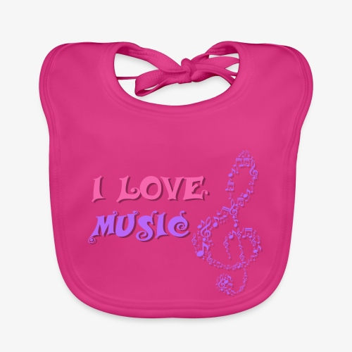Love Music - Babero ecológico bebé