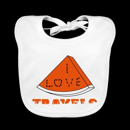 I LOVE TRAVELS FRUITS for life - Baby Organic Bib