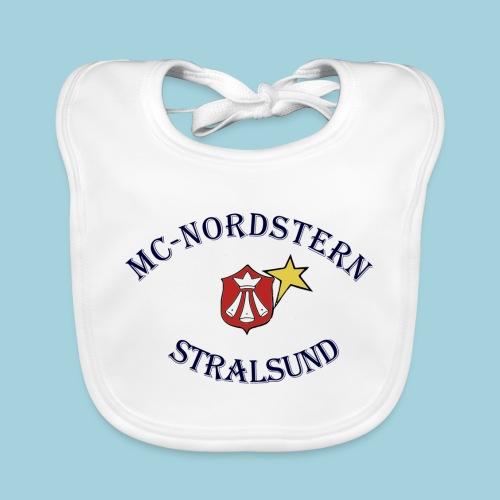 MC Nordstern Schrift gebogen - Baby Bio-Lätzchen