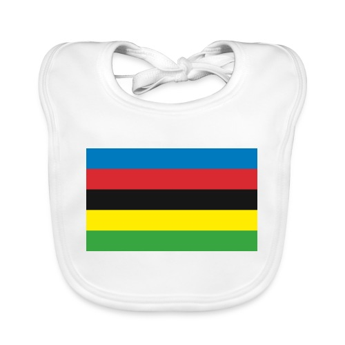 Cycling_World_Champion_Rainbow_Stripes-png - Bio-slabbetje voor baby's