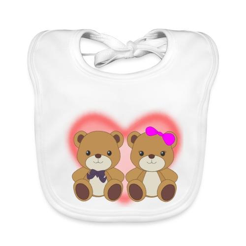 Orsetti con cuore - Bavaglino ecologico per neonato