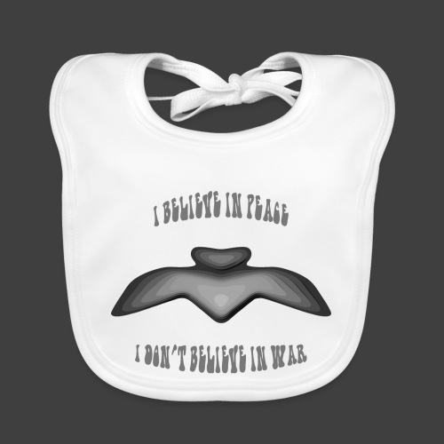 I believe in peace 4 png - Organic Baby Bibs