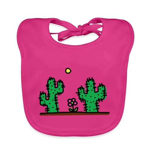 Cactus - Bavaglino ecologico per neonato