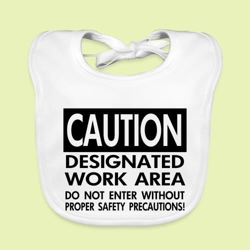Caution work area - Bio-slabbetje voor baby's