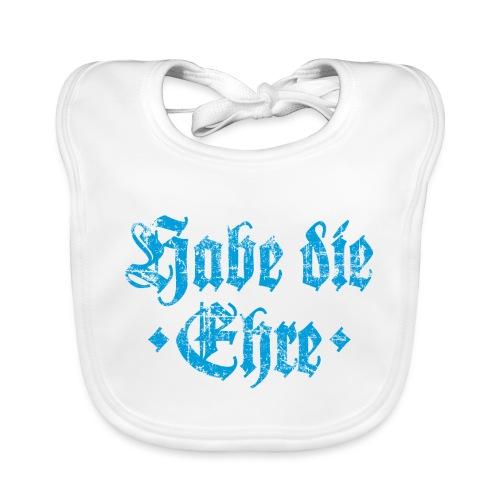 Habe die Ehre (Vintage/Hellblau) - Baby Bio-Lätzchen