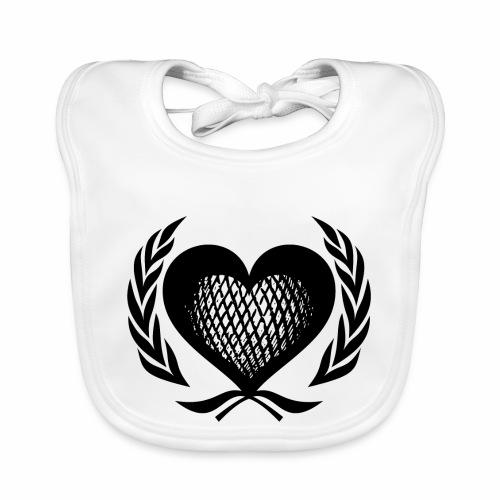 Herz Kranz Gitter Netz Logo Emblem Geschenkidee - Baby Bio-Lätzchen