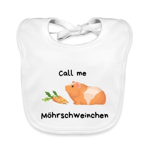 Call me Möhrschweinchen - Baby Bio-Lätzchen