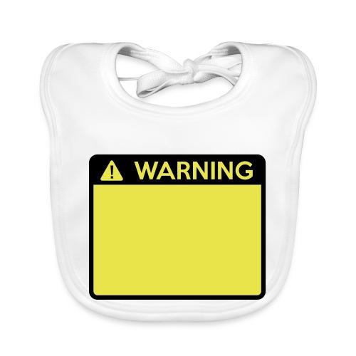 Warning Sign (2 colour) - Baby Organic Bib