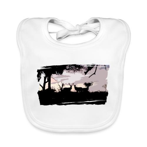 T-shirt cerf & biche personnalisé - Bavoir bio Bébé