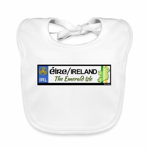 EIRE IRELAND IRL, The Emerald Isle, licence tag EU - Baby Organic Bib
