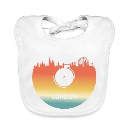 London Skyline Vinyl Schallplatte London Souvenir - Baby Bio-Lätzchen