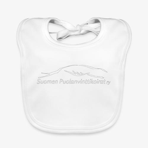 SUP logo valkea - Vauvan luomuruokalappu