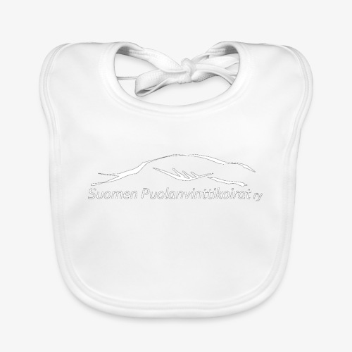 SUP logo valkea - Vauvan ruokalappu