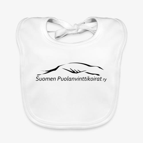 SUP logo musta - Vauvan luomuruokalappu