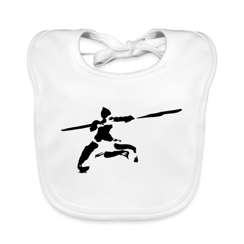 Kungfu stick fighter / ink - Baby Organic Bib