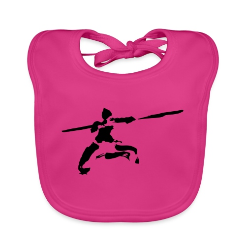 Kungfu stick fighter / ink - Organic Baby Bibs
