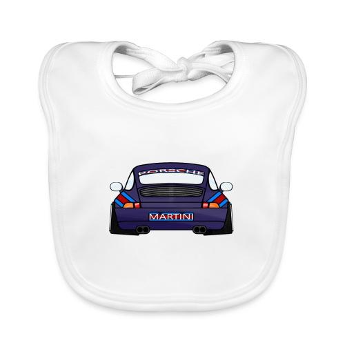 Magenta maritini Sports Car - Baby Organic Bib