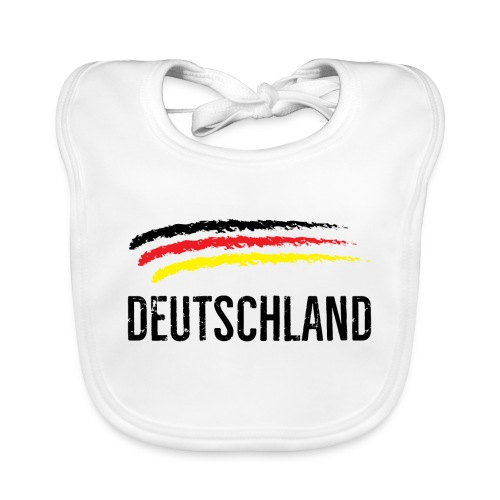 Deutschland, Flag of Germany - Baby Organic Bib