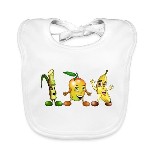 fruits exotiques illustration pour bébé - Bavoir bio Bébé