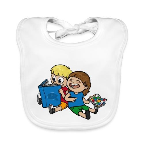 Kinder, lest mehr Bücher und Comics! - Baby Bio-Lätzchen