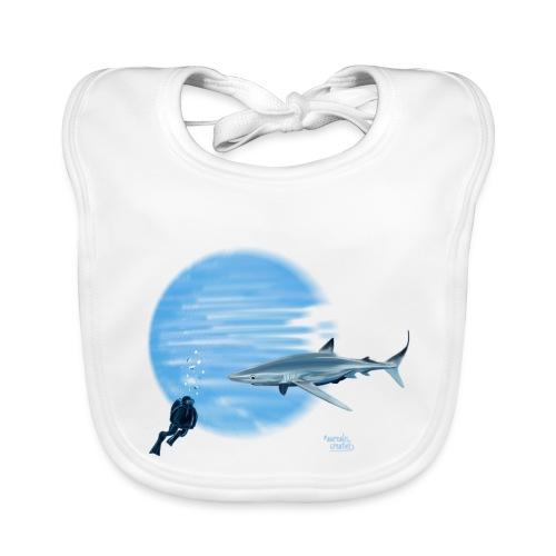 Grand requin et plongeur - Bavoir bio Bébé