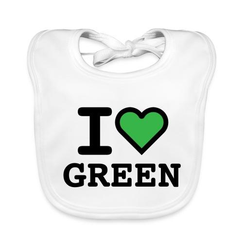 i-love-green-2.png - Bavaglino ecologico per neonato
