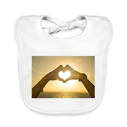 sunset hands love woman - Baby Organic Bib