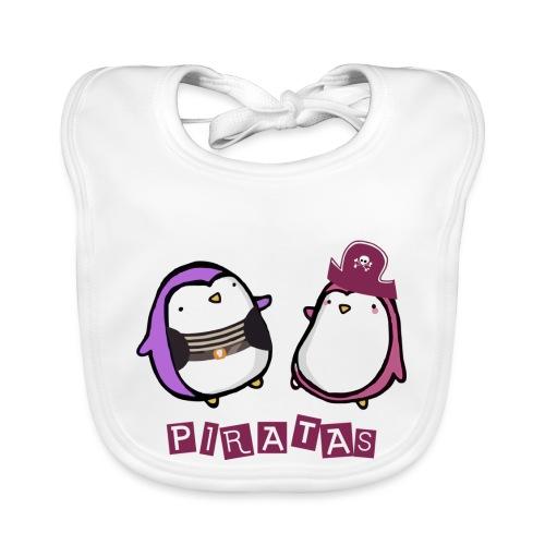 PINGUINOSPIRATAS - Babero de algodón orgánico para bebés