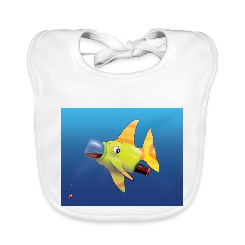 Greedy Fish - Bavoir bio Bébé