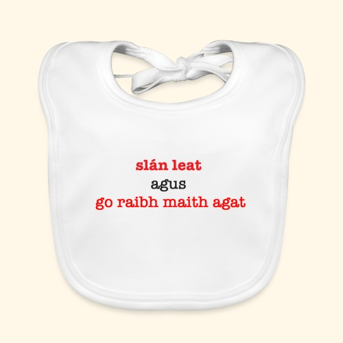 Good bye and thank you - Baby Organic Bib