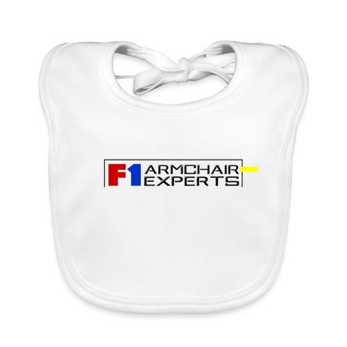 F1 Armchair Experts Logo BK - Baby Organic Bib
