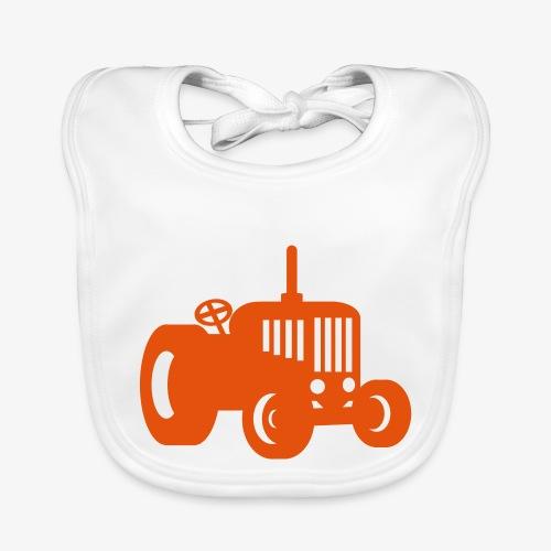 tractor oldschool - Bio-slabbetje voor baby's