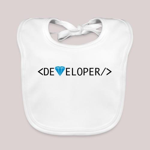 Developer | Computer | Nerd | Hipster | Geek - Baby Bio-Lätzchen