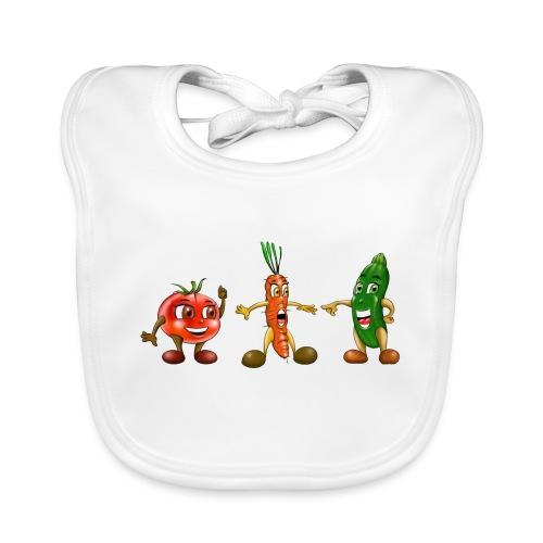 Tomate carotte et courgette - Bavoir bio Bébé