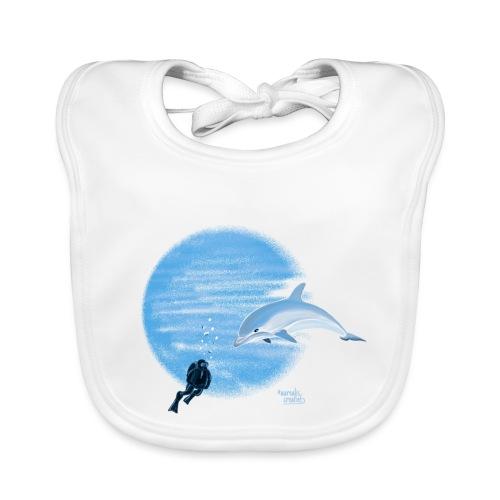 Dolphin and diver - Maillots - Bavoir bio Bébé