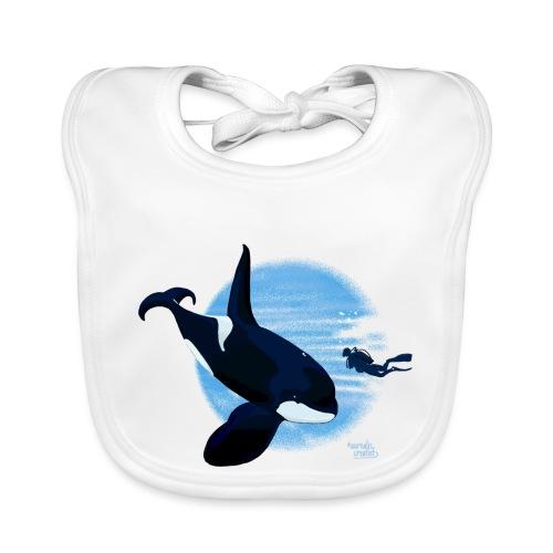 Orca en dappere duiker - Bavoir bio Bébé