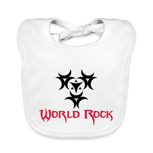 Motif World Rock - Bavoir bio Bébé