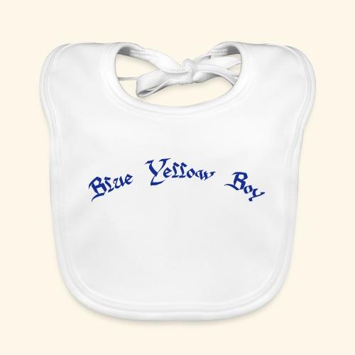 Blue Yellow Boy gebogen - Baby Bio-Lätzchen