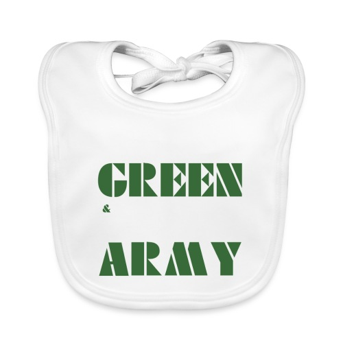 GREEN & WHITE ARMY _STENCIL_3 - Organic Baby Bibs