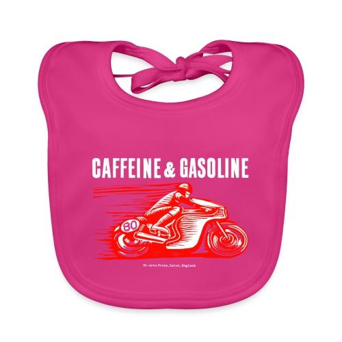Caffeine & Gasoline white text - Organic Baby Bibs