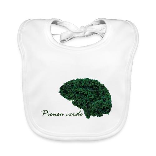 Piensa verde - Babero de algodón orgánico para bebés