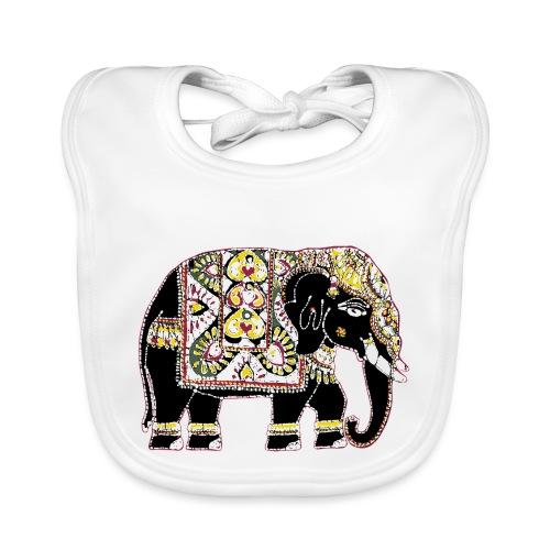 Indian elephant for luck - Baby Organic Bib