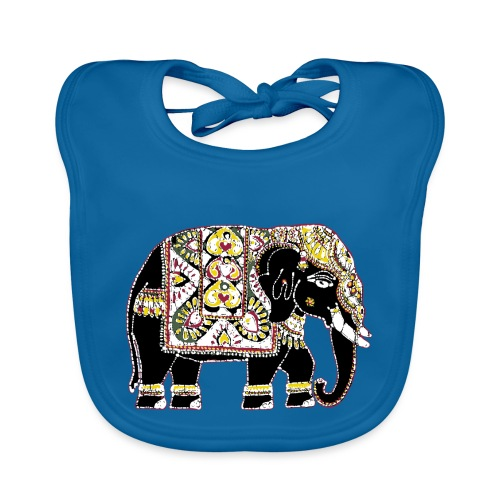 Indian elephant for luck - Organic Baby Bibs