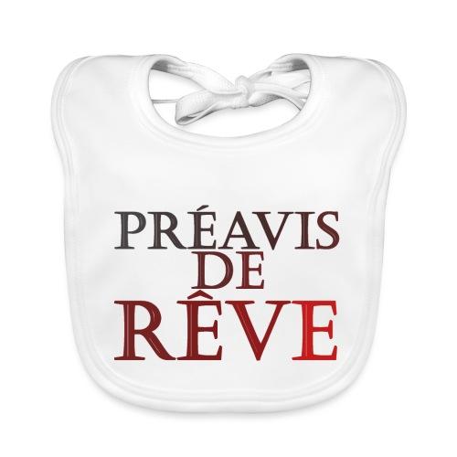 préavis de rêve (rouge) - Bavoir bio Bébé