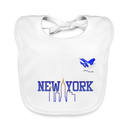 Space Atlas Baseball Shirt New York - Baby økologisk hagesmæk